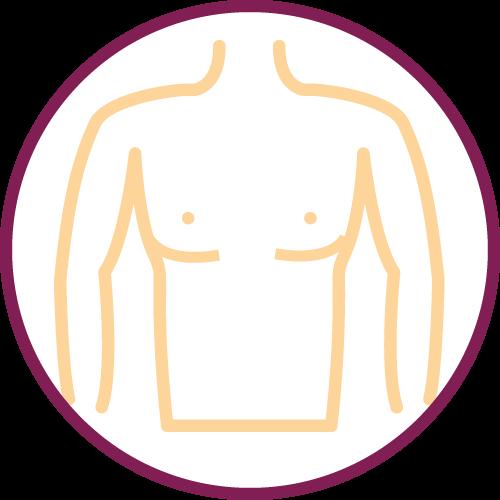 Sutura liposizione seno maschile